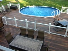 Above ground pools have always been the best and the cheapest option to build swimming pool. Here's the reason why you should invest in above ground pool rather than in-ground ones. We have above ground pool tips and ideas. Above Ground Pool Fence, Oval Above Ground Pools, Best Above Ground Pool, Above Ground Pool Landscaping, Backyard Pool Landscaping, Above Ground Swimming Pools, In Ground Pools, Landscaping Ideas, Backyard Ideas