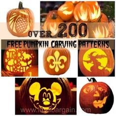 Over 200 Free Pumpkin Carving Patterns