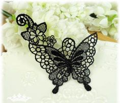 Lace Applique- Delicate Butterfly Applique.  I love butterflies. Would love to get this for Mother's Day! #etsymothersday #handmadekids and @Handmade Kids