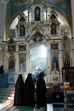 Interior of a Russian Orthodox church. #Russia
