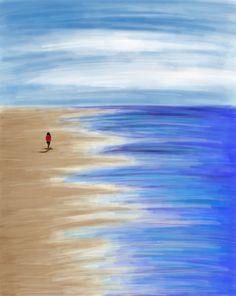 Beach. Photoshop painting practice, 2018. Canvas Art, My Arts, Photoshop, Rock, Abstract, Beach, Artwork, Painting, Men