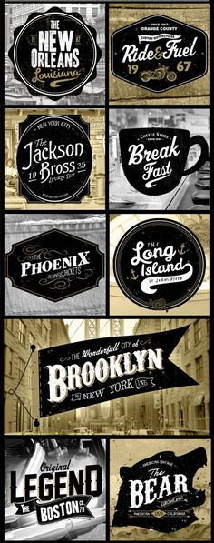 More great typography & lettering designs   From up North