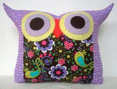 LAST one SALE/ Polyfil Stuffed Purple Dream Owl by fongstudio