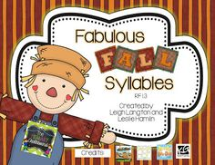 Fall Syllables Freebie!  Too cute for words!!  :)