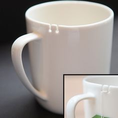 Tie Tea Cup - usually I tie the tea bag string to the handle, but the little grooves are a great idea!
