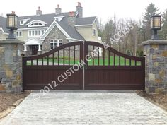 gated driveways   Custom Gate & Access   Custom Driveway Gate Gallery