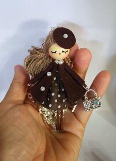 Poupée de bijoux collier OOAK par Delafelicidad sur Etsy