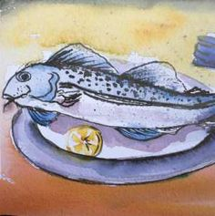 Elsa Wendt, fish painting, watercolour ,I ALWAYS LOVED ANYTHING AND EVERYTHING THAT HAS TO DO WITH CREATIVITY! WHEN I WAS GROWING UP, MY MOM WAS ALWAYS SEWING, DRAWING, PAINTING OR MAKING SOMETHING.