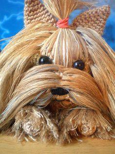 Free Crochet Yorkie Dog Pattern With Vid - Diy Crafts - maallure Crochet Bunny Pattern, Dog Pattern, Crochet Patterns Amigurumi, Amigurumi Doll, Diy Crafts Crochet, Cute Little Dogs, Yarn Projects, Crochet For Kids, Free Crochet