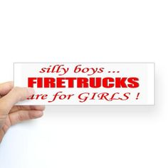 Shop fIRETRUCKS are for GIRLS Sticker (Bumper) designed by Lots of different size and color combinations to choose from. Firefighter Decals, Firefighter Paramedic, Firefighter Quotes, Fire Dept, Fire Department, Love My Job, White Vinyl, Bumper Stickers, Sticker Design