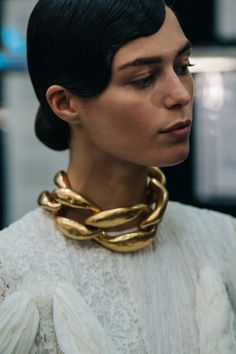 A Feminine Tomboy: Archive Feminine Tomboy, Jewelry Accessories, Jewelry Design, Pallas Couture, Neck Piece, Statement Jewelry, Gold Jewelry, Gold Necklace, New Trends