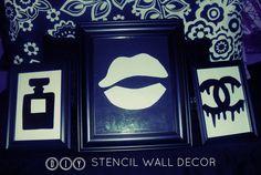 DIY ROOM DECOR: Stencil Wall Decor