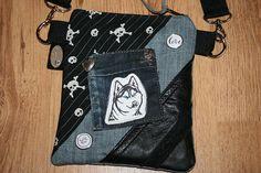 Leckerlitasche mit Husky Snackbeutel Mini-Handtasche