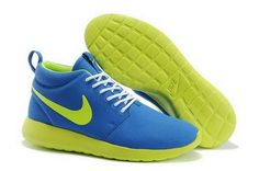 new style 5e674 56a43 Authentic Nike Shoes For Sale Nike Roshe Run Mid Mens Hero Blue Volt  Trainers  Roshe Run -
