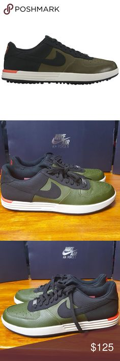 619dc9810488bd Nike Lunar Force 1 G Golf Shoes 818726-300 Green