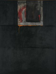 "immafuster: ""Robert Motherwell - Royal Dirge, 1972 acrylic on canvas "" Robert Motherwell, Franz Kline, Cy Twombly, Gerhard Richter, Richard Diebenkorn, Francis Bacon, Mark Rothko, Abstract Expressionism, Abstract Art"