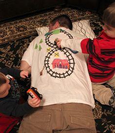 Repeat Crafter Me: Choo-Choo Train Massage T-shirt