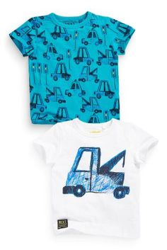 Buy Two Pack Vehicle Print T-Shirts (3mths-6yrs) online today at Next: United States of America
