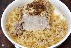 Ring in the New Year with THE BEST Pork and Sauerkraut recipe! Juicy and packed with so much flavor! Mom's recipe perfected! | the best pork roast, new year's pork and sauerkraut, oven roast pork, new year food, the best pork roast, roasted pork loin and sauerkraut #porkroast #porkandsauerkraut #newyearseve #comfortfood #pork #sauerkraut New Years Pork And Sauerkraut, Pork And Sauerkraut Recipe, Pork Loin Dry Rub Recipe, Pork Roast In Oven, Mom's Recipe, Recipe For Mom, Dry Rub Recipes, Wine Recipes, New Year's Food