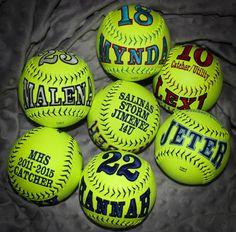 Hey, I found this really awesome Etsy listing at https://www.etsy.com/listing/191538166/customized-softballs-baseballs