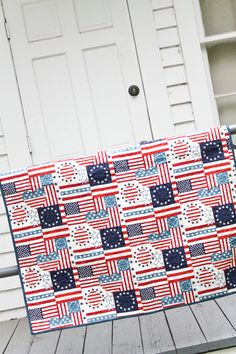 Red, White  Blue Quilt