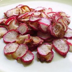 Crispy Baked Radish Chips (Low Fat/Low Carb) Recipe