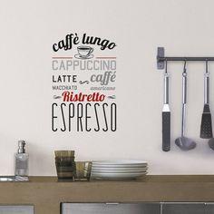 Transfert D'Art Caffè Lungo Wall Sticker now featured on Fab. Kitchen Stickers, Wall Stickers, Wall Transfers, Solid Wood Furniture, Photo Displays, Kitchen Accessories, Design Your Own, Branding Design, Cool Stuff