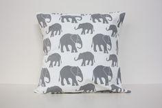 Grey Elephant Cushion Cover