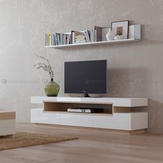 Prince TV cabinet – Simple and modern, exactly what you need to complete your living room so that it looks perfect! – By Decordesign®Interiors❤️ - Tv Unit Furniture Design, Tv Stand Furniture, Furniture Stores, Living Room Tv Unit Designs, Interior Design Living Room, Living Room Modern, Living Room Decor, Modern Tv Wall Units, Rustic Wall Shelves
