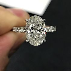"""192 Likes, 2 Comments - Joey Hamra (@hamradiamonds) on Instagram: """"My oval obsession just got a new level when I received this new oval engagement ring with diamonds…"""""""