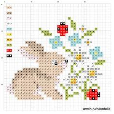 Схема вышивки божьих коровок / Екатерина Балагурова