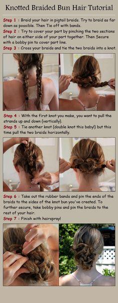 Knotted Braided Bun Hair Tutorial