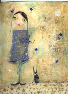 Suzi Blu, Mixed Media Paintings: Make a Wish, and make it true