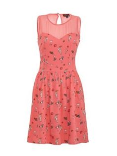 Yumi Toucan print dress Coral - House of Fraser Unique Dresses, Cute Dresses, Dresses For Work, Summer Dresses, Crazy Outfits, Cool Outfits, Classy Women, Classy Lady, White Wedges