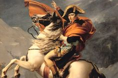 """Napoleon Bonaparte. On the subject of painting, Jacques-Louis David, later known as the official """"first painter to the Emperor"""", created several canvasses entitled Napoleon Crossing the Alps at Mont Saint Bernard. The painting became one of the most famous and recognizable works in the history of art."""