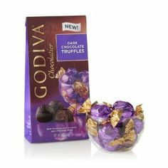 Godiva Chocolatierwrapped Dark Chocolate Truffles