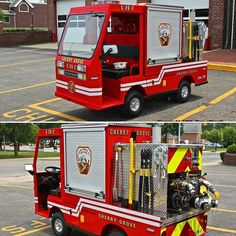 """FEATURED POST   @kempterfirewire -  This piece of apparatus is serving the barrier island of Fire Island on Long Island's South Shore the communities on the island feature walkways and beachfront paths...with no paved roads packed with tightly spaced wood frame homes.  This rig was built in 2015 by a local apparatus dealer on a heavy duty Taylor-Dunn chassis and equipped with a 500 gpm pump. This rig equipped with two SCBA hand tools & an 1-3/4"""" pre-connect is designed to be a first response…"""