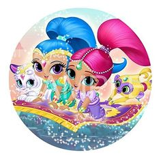Shimmer  Shine Edible Image Photo Cake Topper Sheet Birthday  8 Round  13316 ** Want additional info? Click on the image.