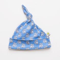 Blue Fox Knot Hat