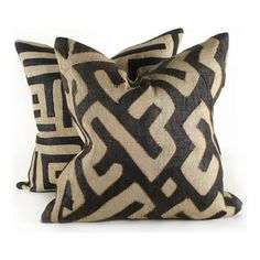 Pfeifer Studio - Black Kuba Cloth Pillow - Pillows are a go-to option for adding a trend you'd like to try in your home. They're priced well...