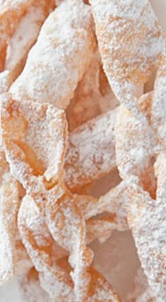 Polish Angel Wings (Chrusciki) - light as a feather pastry cookies that are lovely to eat as is or served with fresh fruit, ice cream or puddings.