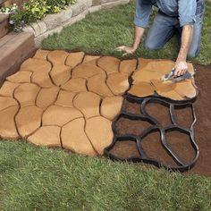 Floor Molding, Diy Molding, Unique Garden, Natural Garden, Easy Garden, Path Ideas, Walkway Ideas, Stone Path, Stone Garden Paths