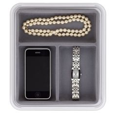 Neatnix Jewelry Stax 3 Compartment Organizer Tray, Pearl Grey ** Details can be found by clicking on the image.