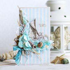 Handmade by Aleksa Kras: Морское вдохновение: открытка и магнитик