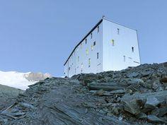 Steel-clad mountain hut by Savioz Fabrizzi Architectes wraps over an Alpine ridge - http://www.decorationarch.com/architecture-ideas/steel-clad-mountain-hut-by-savioz-fabrizzi-architectes-wraps-over-an-alpine-ridge.html
