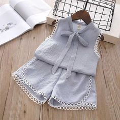 Humor Bear Baby Girl Clothes 2019 Summer New Girls Clothing Sets Kids Clothes Baby Bay Clothes Toddler Girl Coat + Pants Baby Girl Pants, Baby Girl Dresses, Baby Dress, Baby Girls, Baby Girl Fashion, Toddler Fashion, Kids Fashion, Style Fashion, Girls Summer Outfits