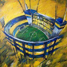 Alberto J. Armando (La Bombonera) <333! Soccer Stadium, Soccer Logo, Football Tattoo, Football Soccer, Fifa World Cup, Lionel Messi, Urban Art, Design Art, Graffiti