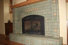Green terracotta tiles
