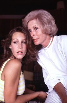 Jamie Lee Curtis at home with mother Janet Leigh