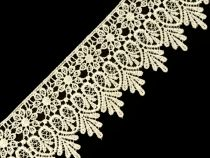 Cotton Lace Trim / many colors / bridal lace trimming, sewing floral lace, venice lace guipure, wide wedding lace trimming Lace Embroidery, Lace Applique, Embroidered Flowers, Lace Ribbon, Lace Fabric, Lace Braid, Sewing Trim, Border Pattern, Bubble Envelopes
